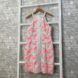 Lilly Pulitzer Pearl Shift Dress Lobster Size 10